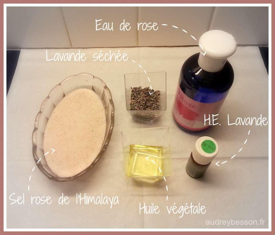 recette sels de bain à la rose