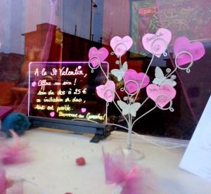 Vitrine Saint Valentin 2014 - Rennes 3