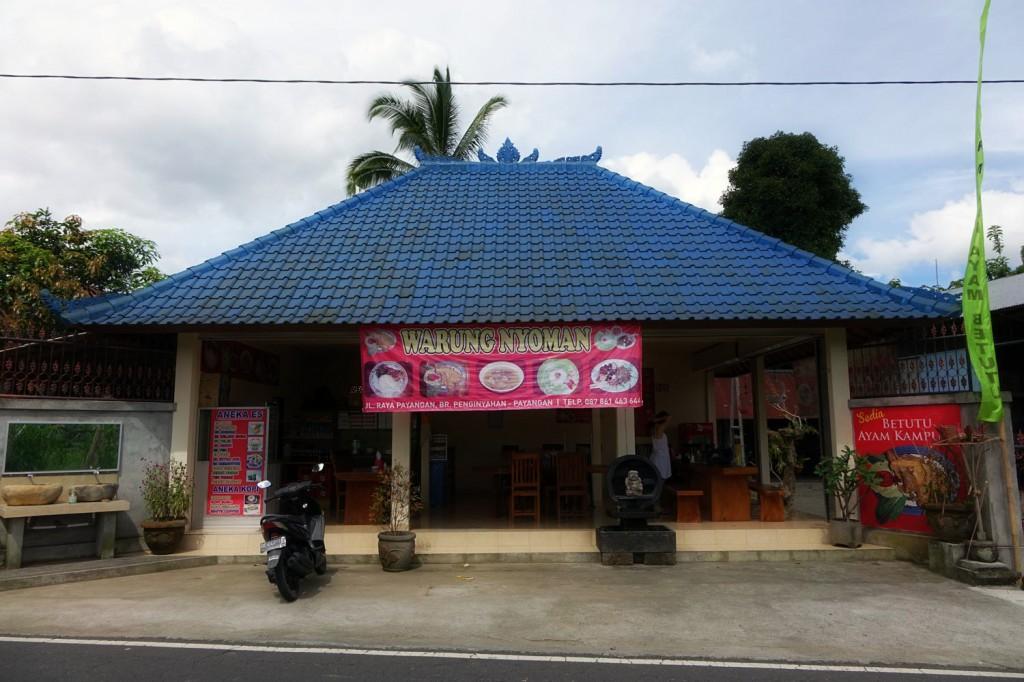 Warung nyoman ubud route