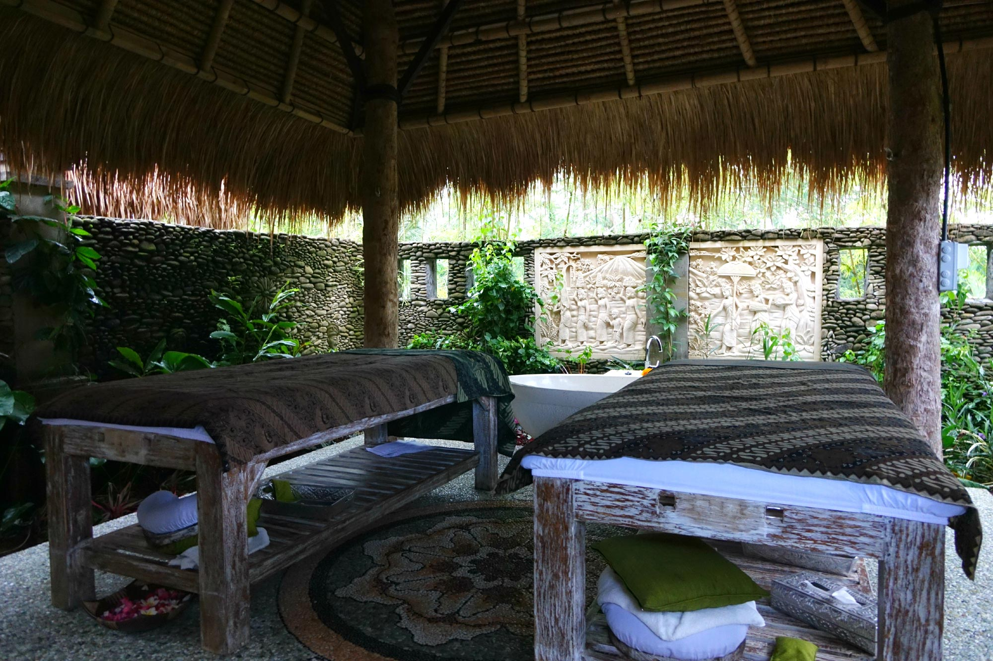 Karsa Spa Ubud tables de massage bali