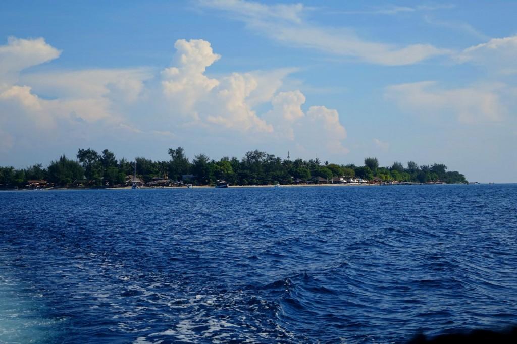 Gili Air vu du bateau