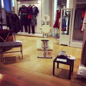 Stand massage afterwork galeries Lafayette