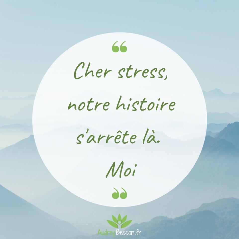 Cher Stress, Notre Histoire S'arrête Là. Moi