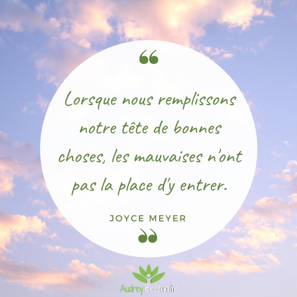 Joyce Meyer. Citation Proverbe
