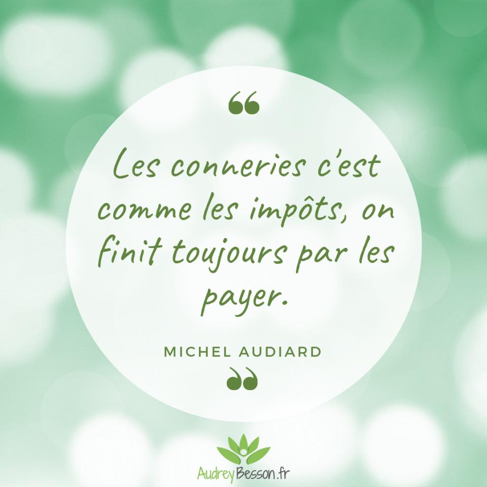 Les Conneries C'est Comme Les Impôts, On Finit Toujours Par Les Payer. Michel Audiard