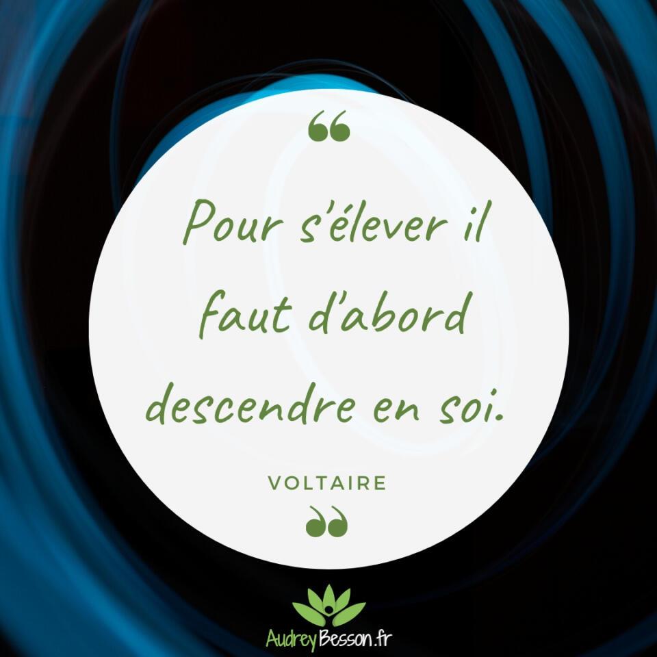 pour S'élever Il Faut D'abord Descendre En Soi. Voltaire