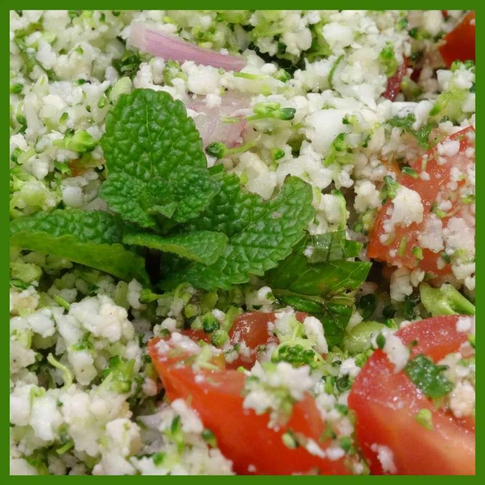 Taboulé cru brocoli, choux fleur, tomate, menthe