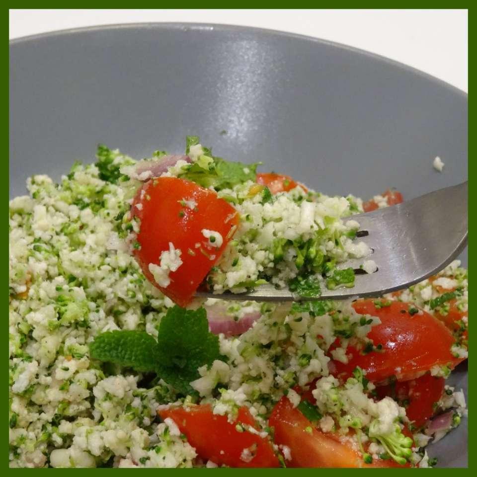 Taboulé cru brocoli, choux fleur, tomate