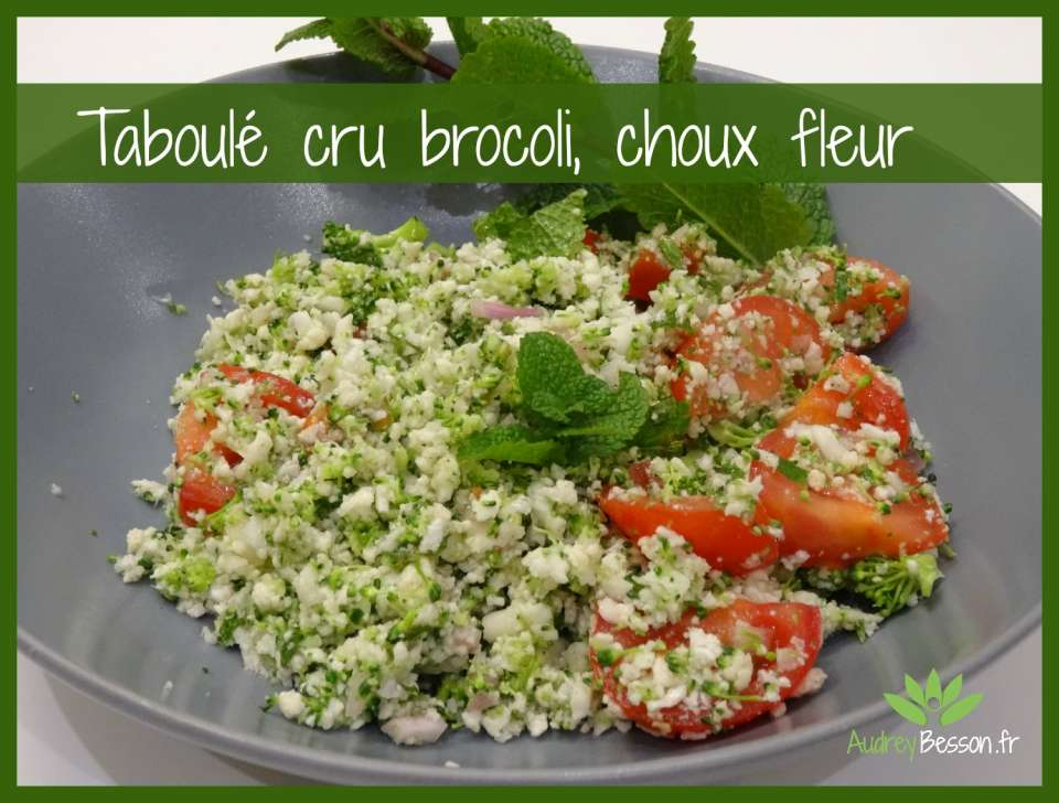 Taboulé cru brocoli, choux fleur