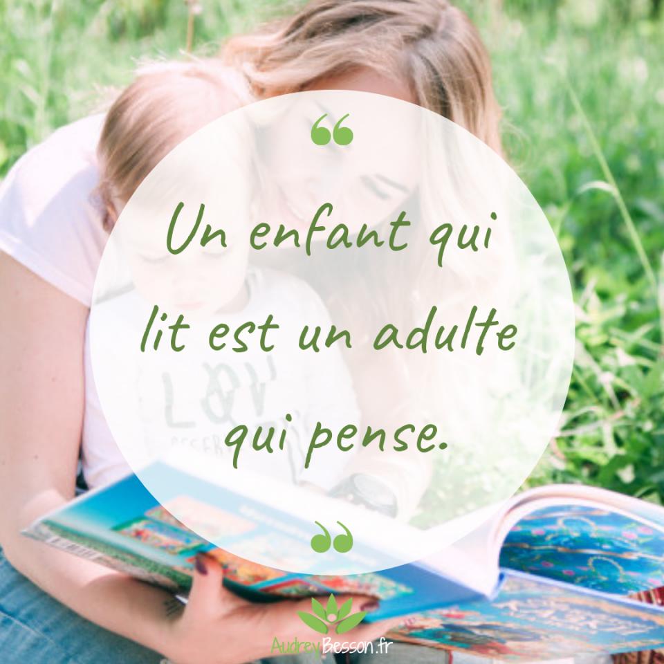 Un Enfant Qui Lit Est Un Adulte Qui Pense