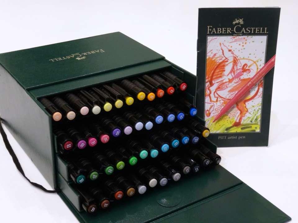 Feutres faber castell pitt artist pen avis retour dessins mandala coloriage