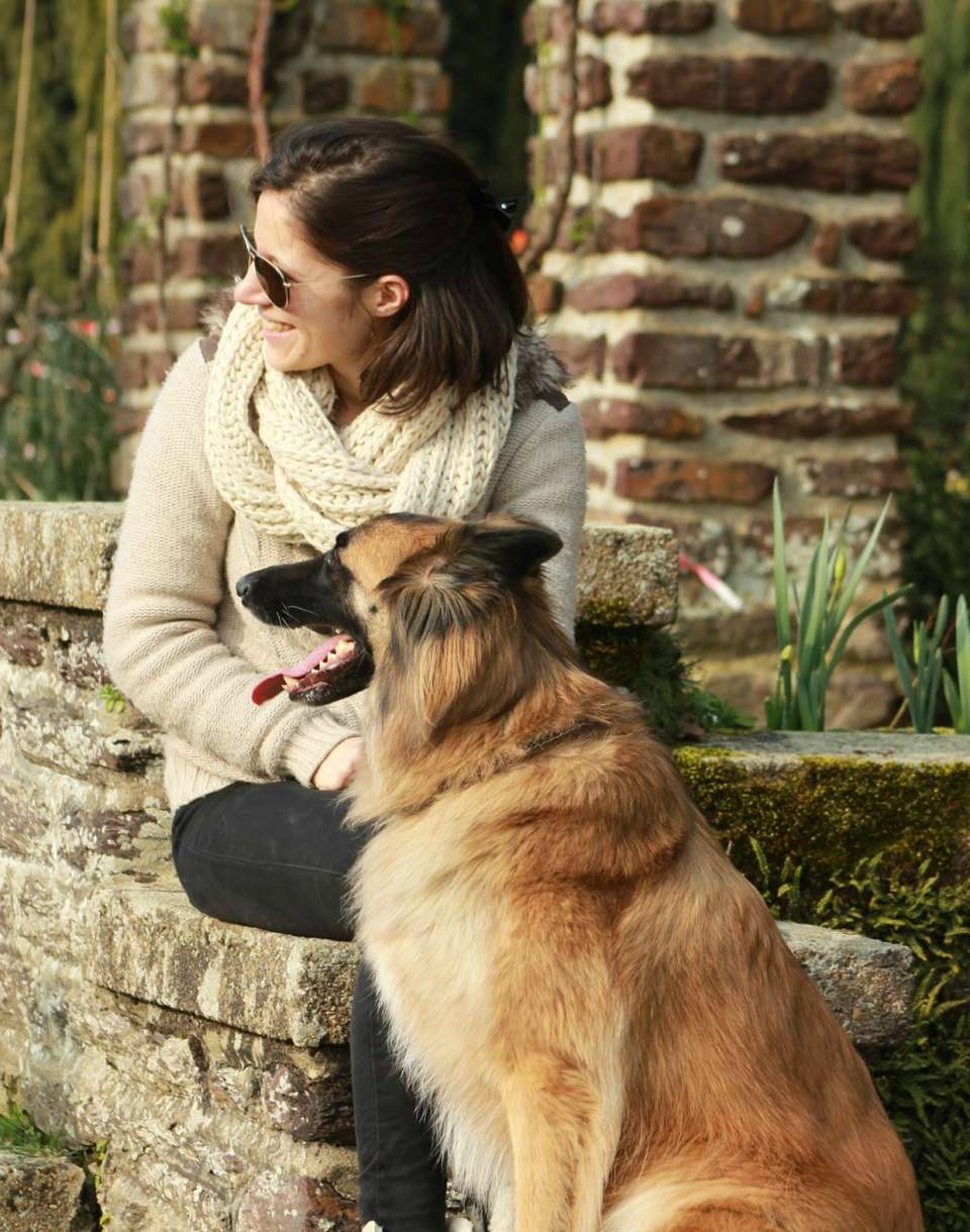 au hasard d'une rencontre rennes balade chien sourire détente relaxation