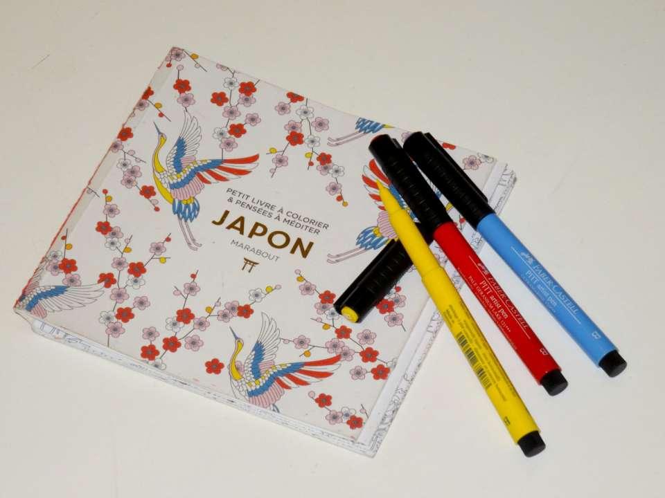 petit livre à colorier et pensées à méditer JAPON marabout