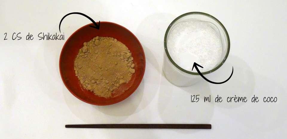 masque cheveux creme de coco shikakai recette brun