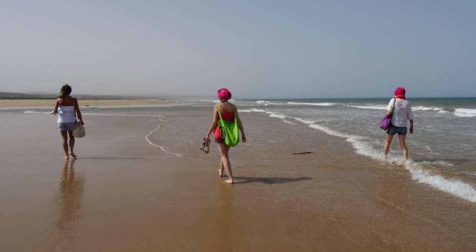 marche essaouira plage randonnée spirituelle méditation yoga massage afrique