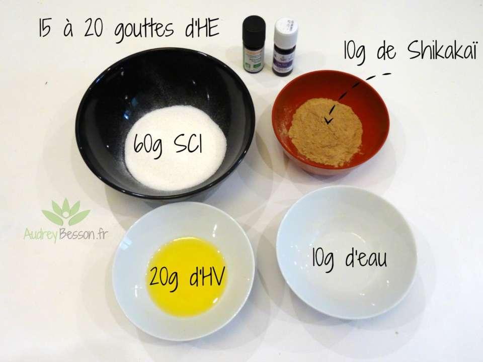recette shampoing solide maison diy sci shikakai huile vegetale eau huile essentielle