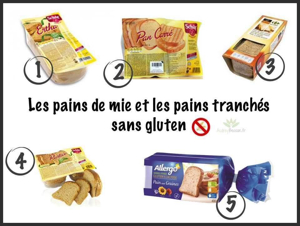 les pains de mie et les pains tranchés sans gluten supermarché