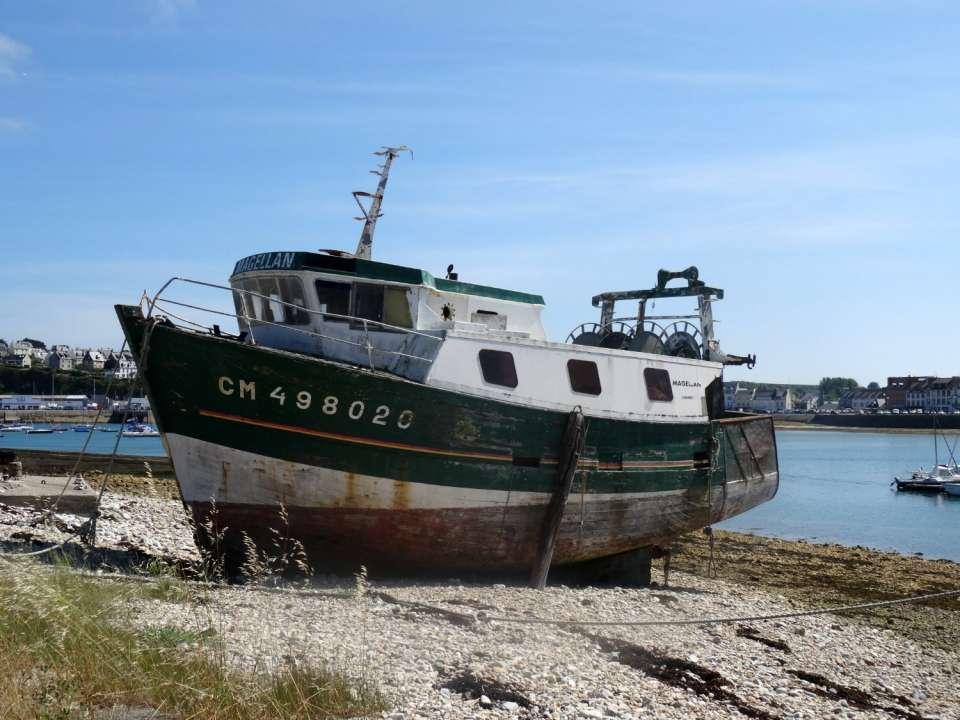 bateau échoué Camaret sur mer