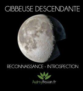 gibbeuse lune descendante signification magie énergétique astrologie reconnaissance introspection