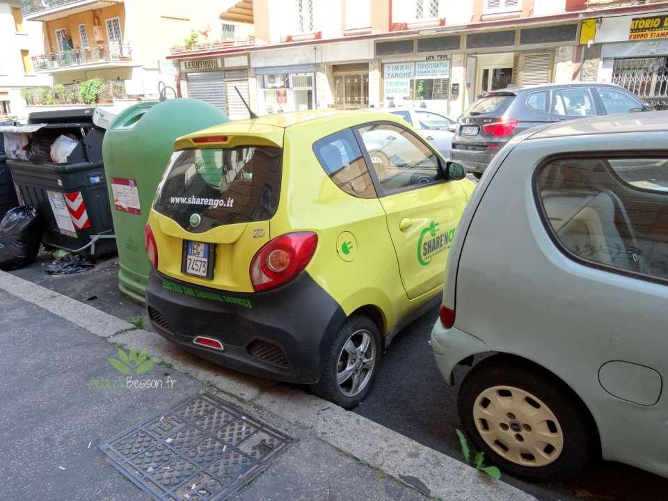 art de vivre rome italie visite place voyage voiture mal garée