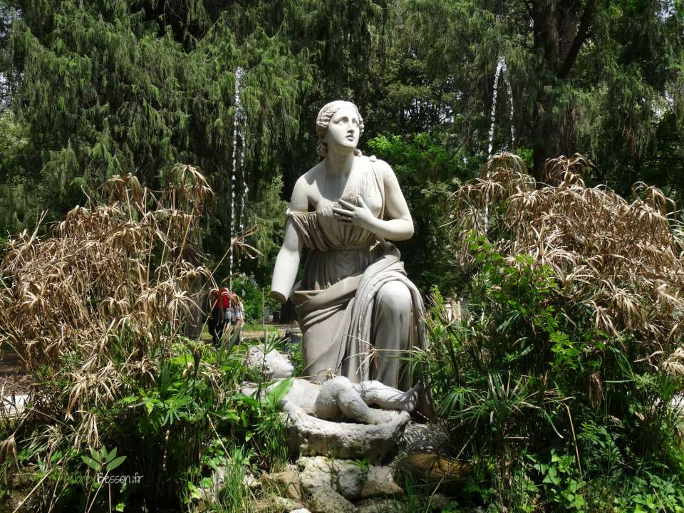 Fontaine Jardins villa borghese italie rome