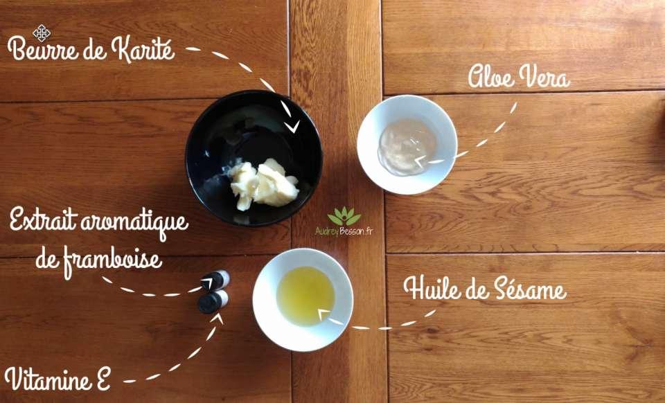 recette ingrédients chantilly karité maison aloe vera bio vitamine E préparation home made diy