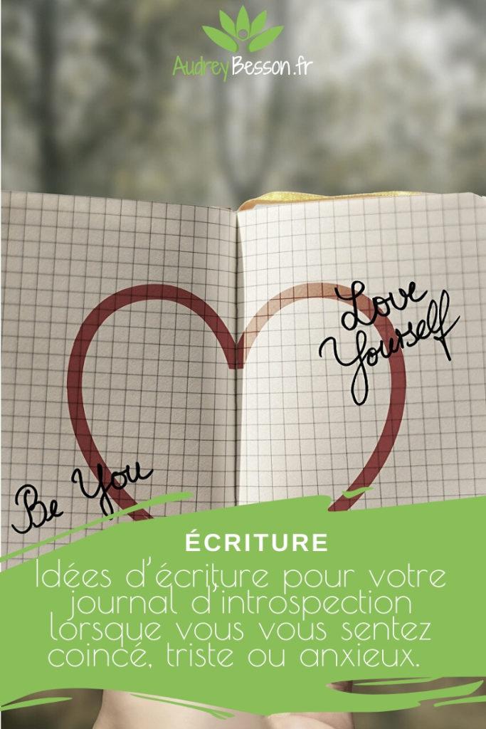 Idées D'écriture Votre Journal D'introspection Lorsque Vous Vous Sentez Coincé, Triste Ou Anxieux