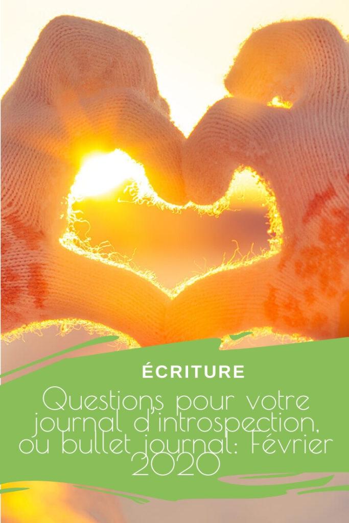 Questions Pour Votre Journal D'introspection, Journal Intime Ou Bullet Journal Février 2020 Pinterest
