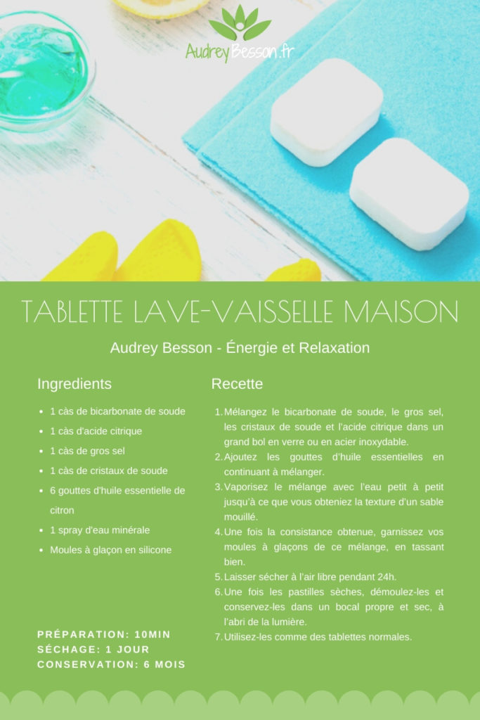 Recette Facile Simple Maison Bio Tablette Lave Vaisselle Bicarbonate