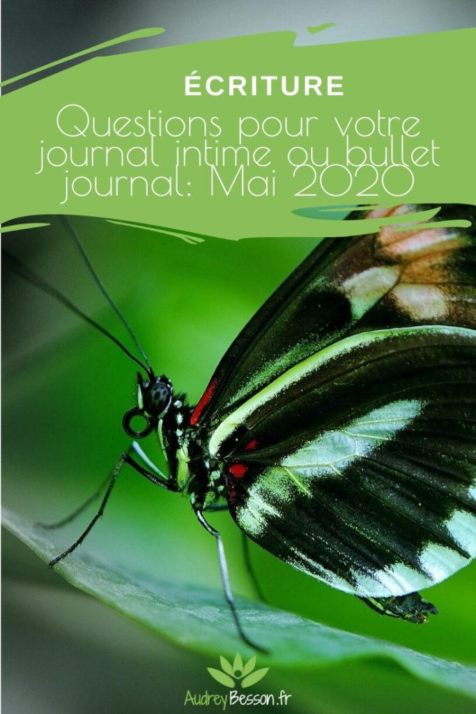 Questions Pour Votre Journal D'introspection, Journal Intime Ou Bullet Journal Mai 2020 Pin
