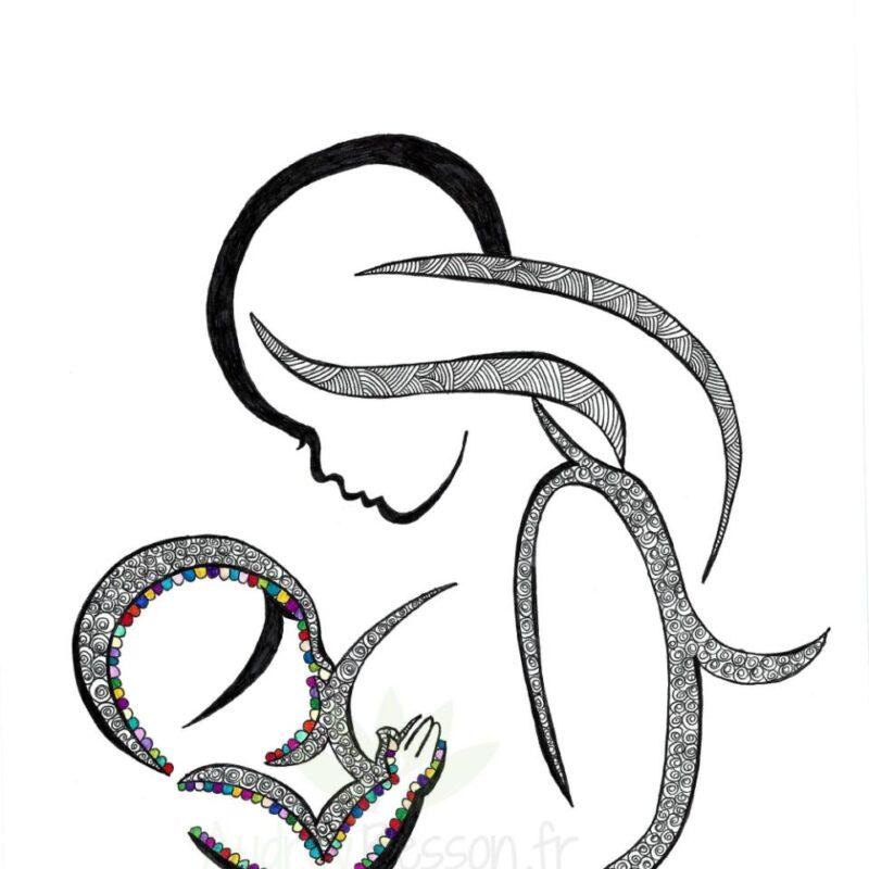 La Magie De L'allaitement Maternel Dessin Mandala
