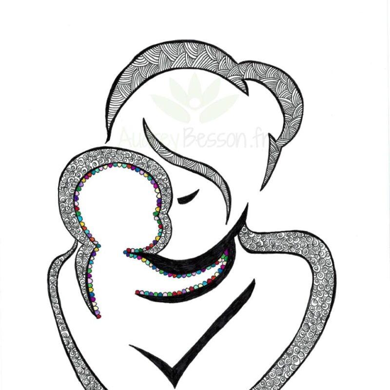 Lové Contre Toi Dessin Mandala Audrey Besson Maternage