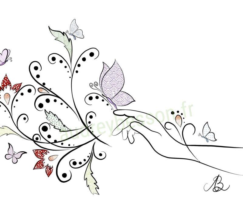 Le Pouvoir Spirituel Du Papillon Dessin Mandala (1)