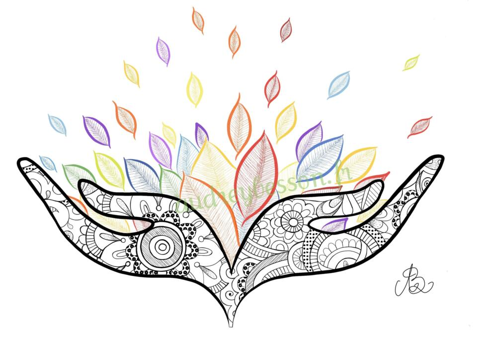 Les Bienfaits Du Toucher Mandala Dessin Art Audrey Besson Logo (1)
